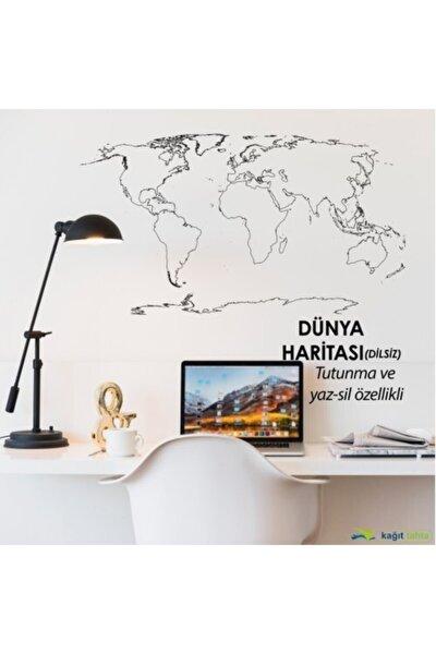 Dilsiz Dünya Haritası Akıllı Beyaz Kağıt Tahta ve  Doldurulabilir Silgili Beyaz Tahta Kalemi