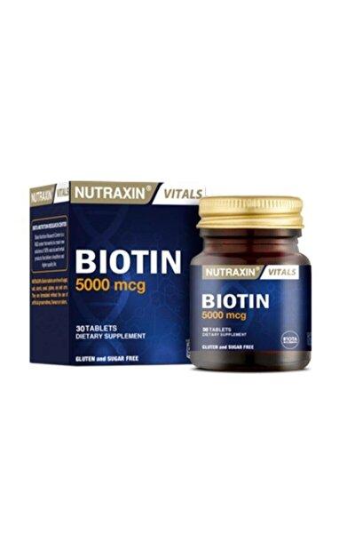 Biotin 5000 Mcg Takviye Edici Gıda 30 Tablet