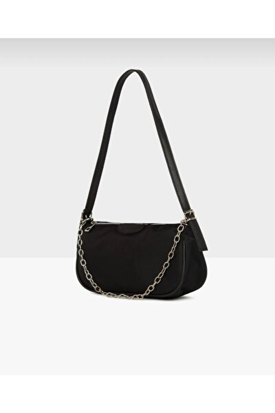 Siyah Zincirli Baget Çanta