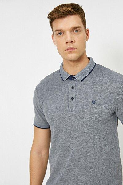 Erkek Lacivert Polo Yaka T-Shirt 0YAM12003OK