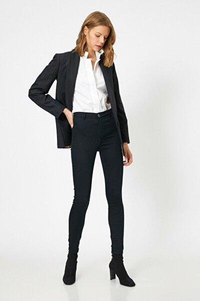 Kadın Lacivert Cep Detayli Pantolon 9YAK43806MW
