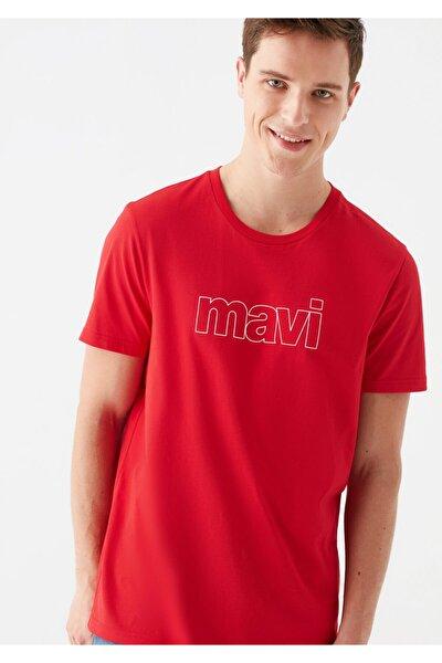 Logo Baskılı Kırmızı Tişört