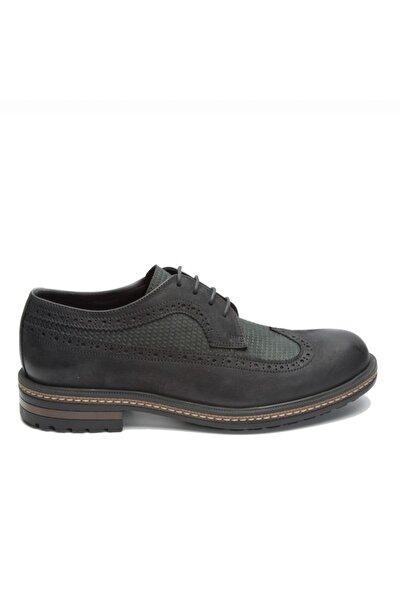 Sıyah Yıkama Nubuk Erkek Klasik Ayakkabı 102 15650-M-5500