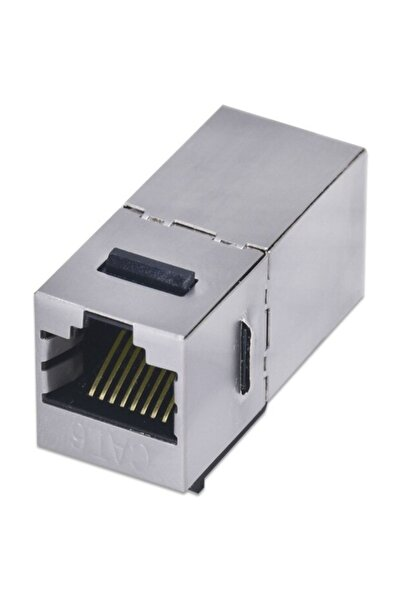 4380 Cat6 Jack Internet Kablo Birleştirici Rj45 Metal Dişi Dişi Ekleme Aparatı