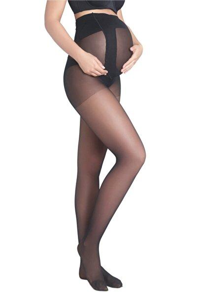 Siyah 9 Ay 10 Gün Hamile Külotlu Çorabı
