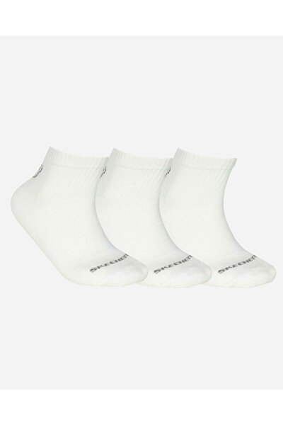 U SKX Padded Mid Cut Socks 3 Pack Unisex Beyaz Çorap