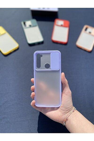 Xiaomi Redmi Note 8 Uyumlu  Kamera Sürgülü Lens Korumalı Mika Kılıf