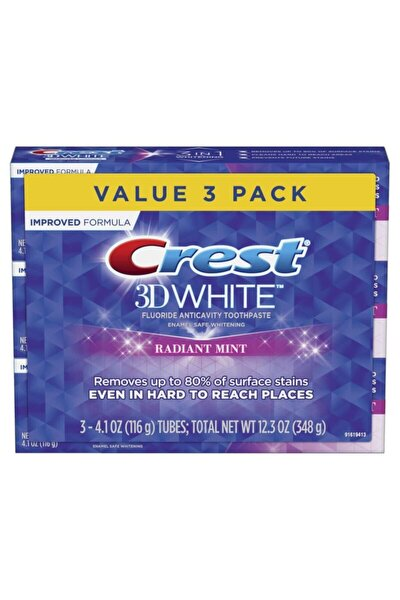 3d White Radiant Mint Diş Macunu 116 Gr X 3 Adet