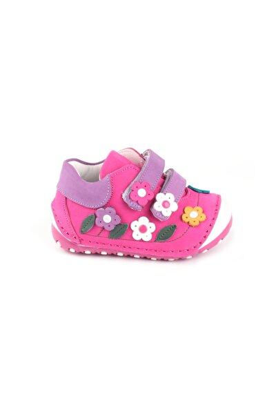 Kız Bebek Pembe  Içi Dışı Komple Hakiki Deri Ilk adım Ayakkabı
