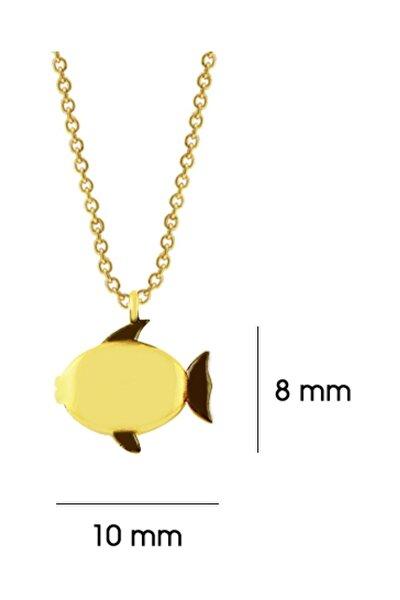 Altın Minik Balık Kolye
