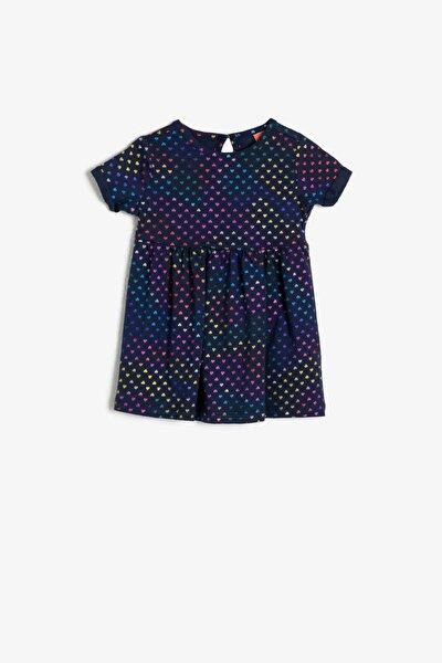 Kız Lacivert Baskili Elbise 0YMG89353OK