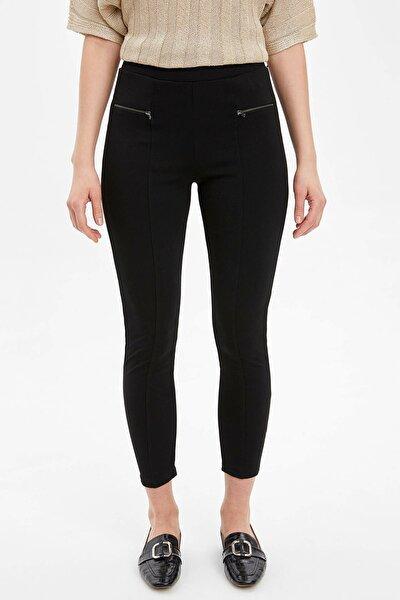 Kadın Siyah Slim Fit Basic Tayt N0735AZ20SPBK