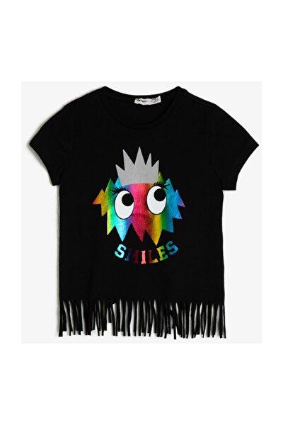Siyah Yazılı Baskılı Çocuk T-shirt 0YKG17697AK