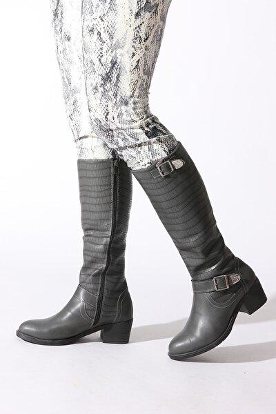 Gri Kadın Çizme 247233-01