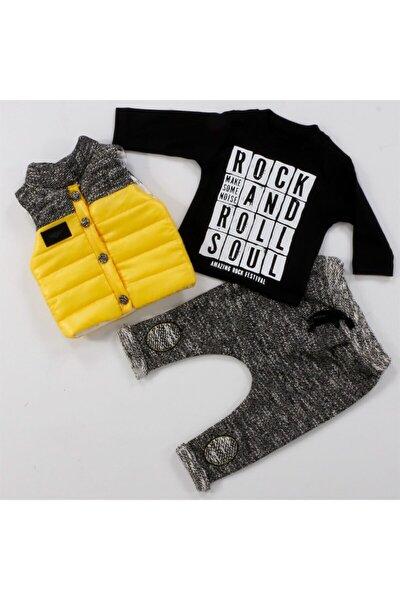Bebek Siyah Rock Roll Lüx 3'lü Takım 60117