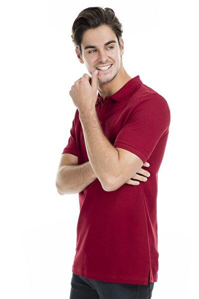 Erkek Bordo Polo Yaka T-Shirt - T446688