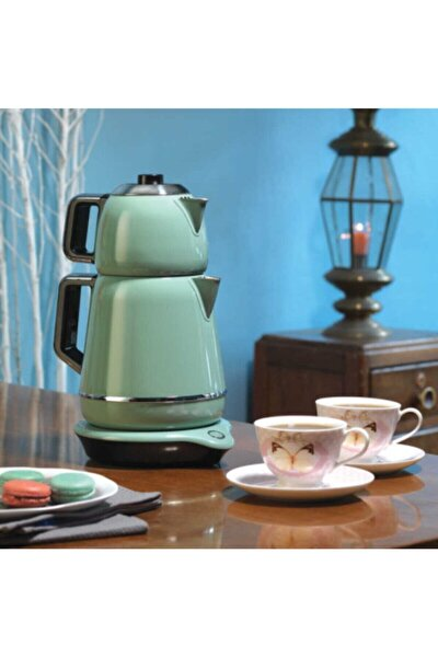 A332-01 Demiks Turkuaz/krom Elektrikli Çaydanlık