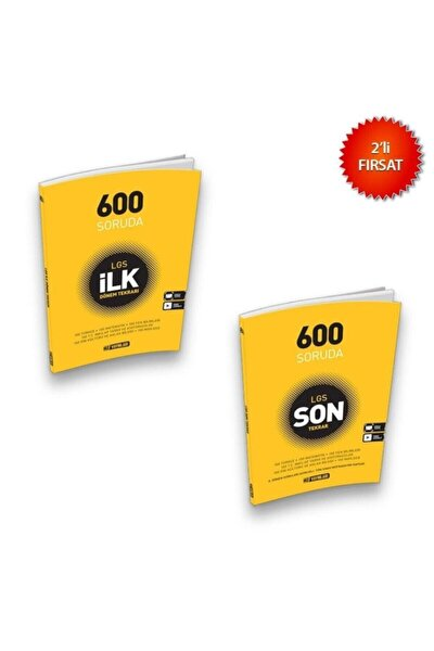 Lgs 8. Sınıf 600 Soruda Ilk Ve Son Dönem Tekrar Seti