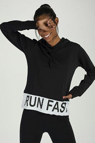 Kadın Siyah Sweatshirt