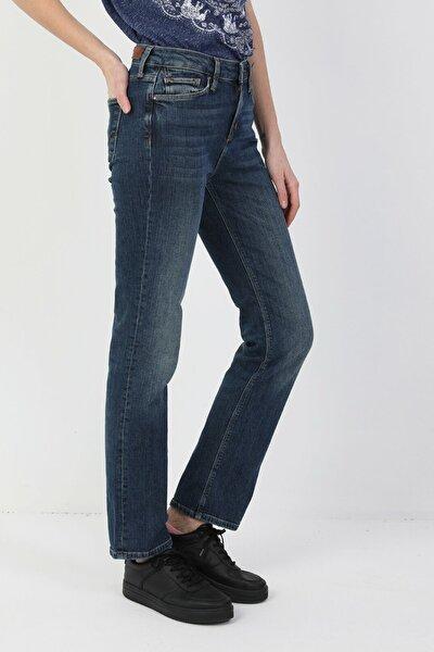 792 Mila Normal Kesim Normal Bel Düz Paça Mavi Kadın Pantolon CL1048932