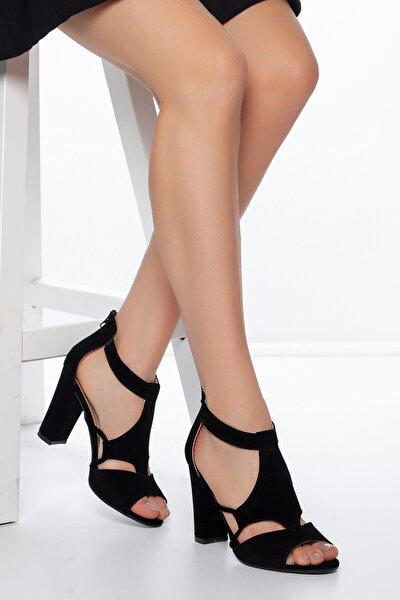 Siyah-Süet Kadın Ayakkabı DXTRSAYŞĞ001