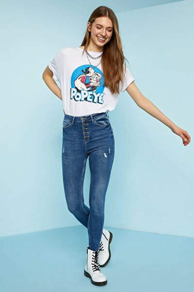 Kadın Mavi Kot Anna Super Skinny Fit Jean Pantolon N7720AZ.20SP.NM28