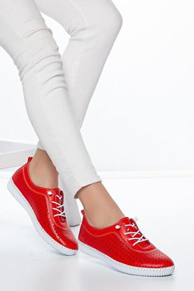 Kırmızı Kadın Ayakkabı DXTRSWMN5004