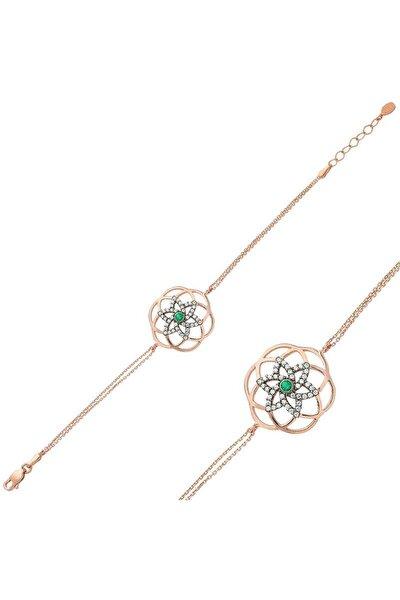 Kadın Yaşam Çiçeği 925 Ayar Gümüş Bileklik