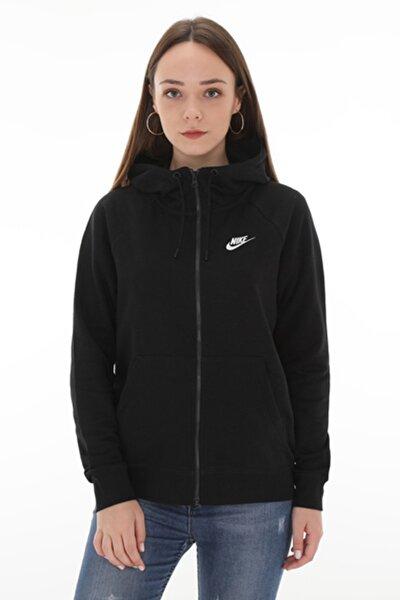Kadın Sweatshirt - Nsw Essntl Hoodie Fz Flc - BV4122-010