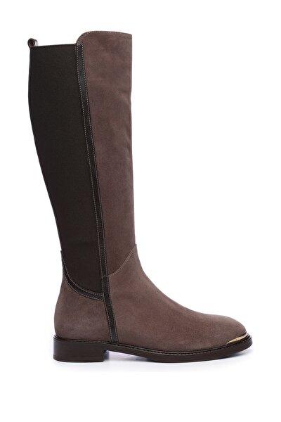 Hakiki Deri Kahverengi Kadın Casual Çizme 94 4007 C BN CIZME