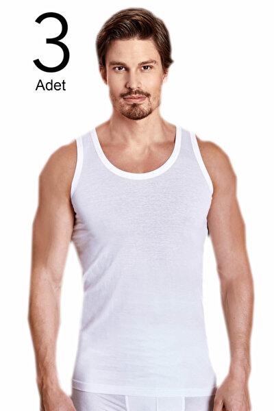 Erkek Beyaz 3'lü Paket Klasik Atlet ELF568BER1020CCM3