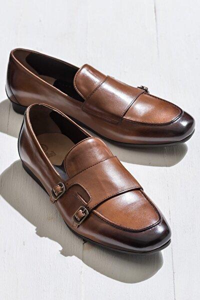JAVES Hakiki Deri Taba Erkek Ayakkabı