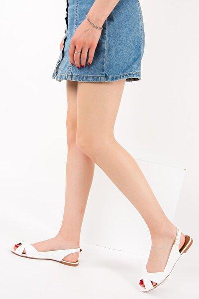 Beyaz Kadın Sandalet 9726106609