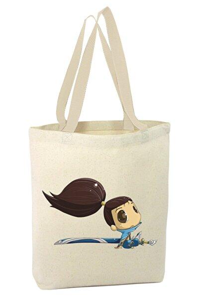 LOL Yasuo Çizim Alışveriş Plaj Bez Çanta