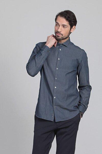 Baskılı Dokuma Uzun Kollu Gömlek - RP10109987