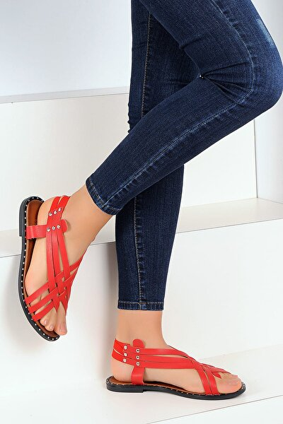 Kırmızı Kadın Sandalet A1105-19