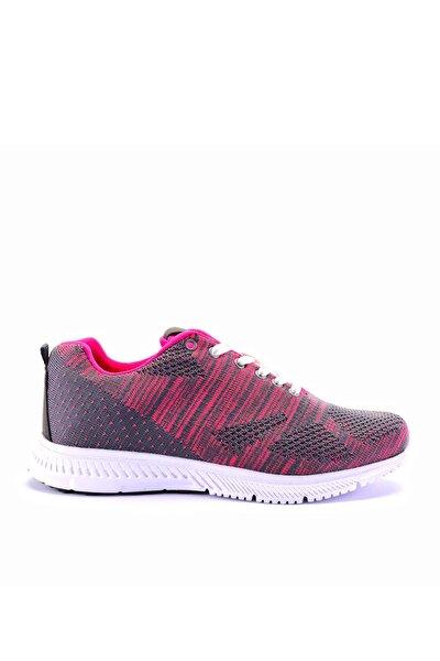 Parıs Sneaker Kadın Ayakkabı K.gri / Fuşya