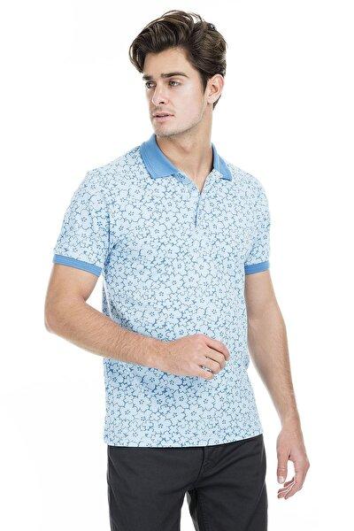 Erkek Mavi T-Shirt - 43619069