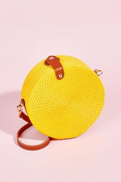 Sarı Kadın Postacı Çanta H3681103328