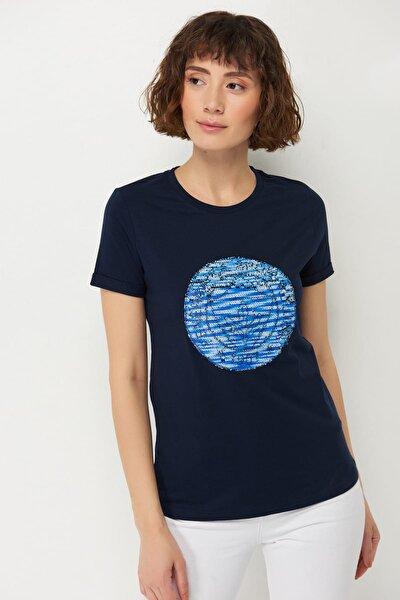 Kadın Tribün Pullu Logo T-Shirt