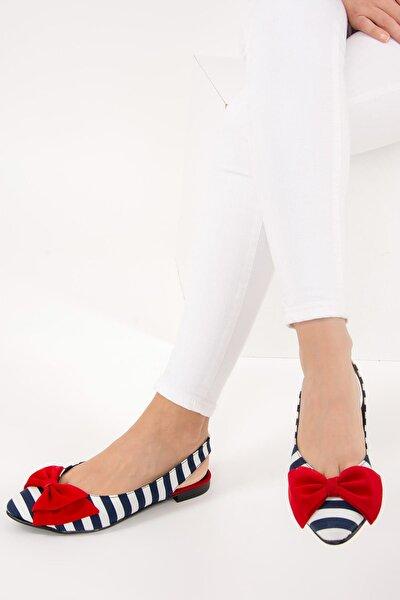 Lacivert Beyaz Kırmızı Kadın Babet D726774404