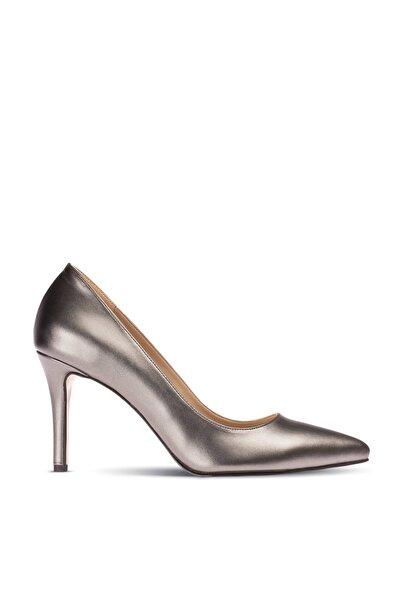 Gri Kadın  Klasik Topuklu Ayakkabı 02029ZGRIM01