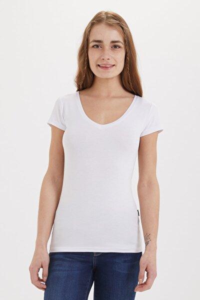 Kadın Cindy V Yaka T-Shirt 192 LCF 242009