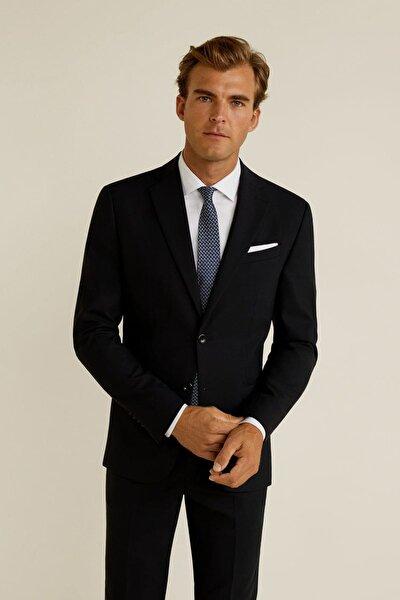 Erkek Siyah Dar Kesim Travel Suit Blazer Ceket 43057023