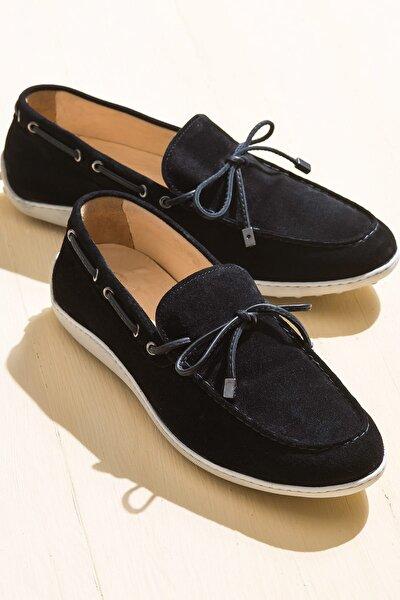 TEON Hakiki Deri Siyah Erkek Ayakkabı