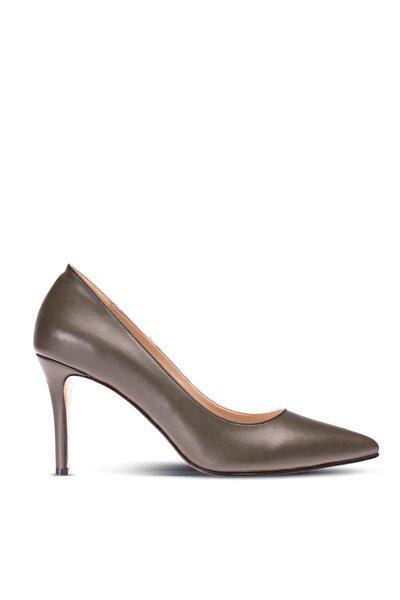 Yeşil Kadın  Klasik Topuklu Ayakkabı 02029ZYSLM01