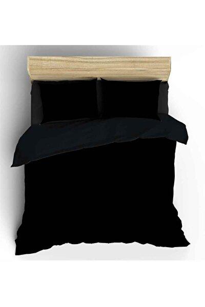 Siyah Maki Tek Kişilik Nevresim ve Yastık Kılıfı
