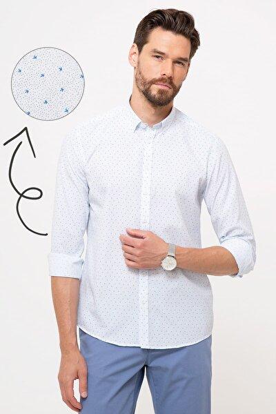 Erkek Açık Mavi Slim Fit Gömlek G021GL004.000.880415
