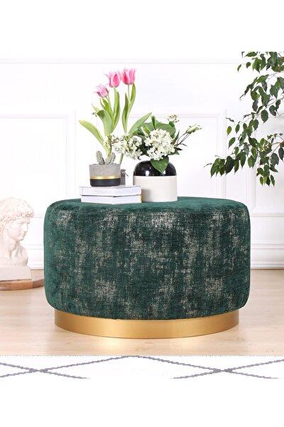 Nifty Puf - Zümrüt Yeşili Gold