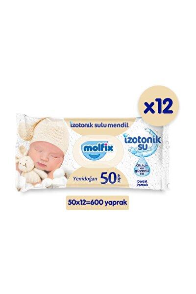 İzotonik Sulu Islak Mendil Yenidoğan 12'li Paket - 600 Yaprak
